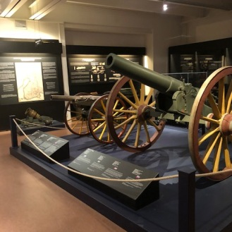 The military museum had tons of weapons and uniforms on display from all eras of Finnish history.