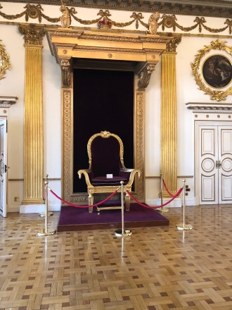 The throne room previously used by British Royalty.